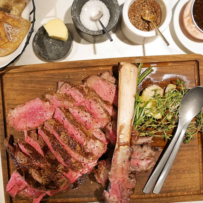 The Tomahawk Steak from Ireland was a sight to behold (and a treat for our bellies)
